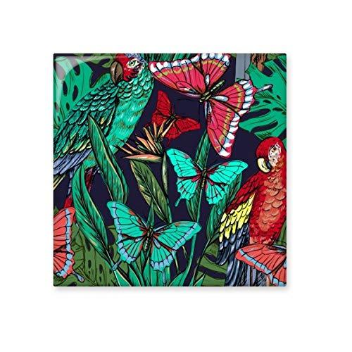 Flor planta de hojas de pájaros Mariposa cerámica crema decoración de azulejos baño cocina azulejos de pared azulejos de cerámica