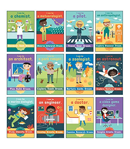 Carson Dellosa Education STEAM Careers Bulletin Board Set (110383), Multi, 17' x 11.5'