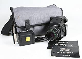 BRONICA ETRS E II 75MM F 2.8 AE II 120 Backs with Manuals and CASE