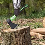 """WilFiks Chopping Axe, 15"""" Camping Outdoor Hatchet for Wood Splitting and Kindling, Forged Carbon Steel Heat Treated Hand… 12 ► EASY TO USE: Our Wood Chopping Axe is designed for easy chopping Of Firewood, Logs, Kindling and Branches. The Optimized blade geometry is designed for maximum efficiency to give you more one-strike splits. Ideal for campers, hikers, outdoor activities, preparing wood for bonfires and garden work. ► DURABLE CONSTRUCTION: The Forged Carbon Steel Heat Treated blade which improves its density and makes the axe more durable produces smooth, sharp, and quick splits and stays sharp longer than traditional axes. You can count on this Hand Axe to deliver superior, long lasting performance. ► ERGONOMIC DESIGN: Our Hatched is Designed with a Shock Absorbing Anti Slip Grip, Cold Resistant Ergonomic Shaped Fiberglass Handle which will reduce the strain on your hand, resists slipping and adds comfort."""