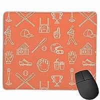 マウスパッド 野球 用具 マウスパッド ゲーミング オフィス最適 防水 耐久性が良い 滑り止めゴム底 マウスの精密度を上がる 25x30cm