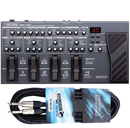 Boss ME-80 - Dispositivo multiefectos e interfaz para guitarra (incluye cable jack keepdrum de 3 m)