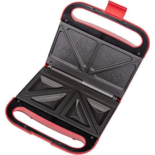 Sandwich máquina de pan Tostadora/Toastie fabricante de placas multifunción antiadherente tortilla Calefacción Prensa Red Bicarbonato de 1125 (Color: Rojo) WTZ012 (Color : Red)
