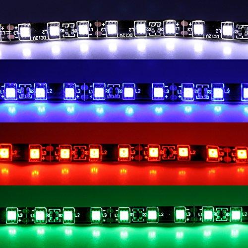 Preisvergleich Produktbild LED Stripe - rot weiß blau grün - 30 cm / 50 cm (19, 97 / m) SMD selbstklebend 12V 3M Streifen Lichtstreifen Flexibel Lichtleiste Lichtband LED Leuchte (30cm,  rot)