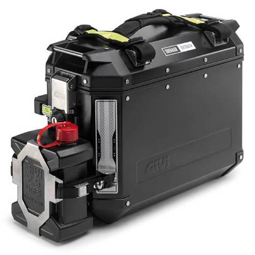 Soporte extraíble específico E148 de acero inoxidable con bidón TAN01 para maletas...