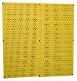 """32"""" x 32"""" of Total Storage Area with Two 16"""" x 32"""" metal pegboard panels. Yellow Powder-Coated Metal Pegboard is Over 10 Times Stronger Than Conventional Pegboard. Accepts Standard Pegboard Pegs. Accepts Slotted Pegboard Pegs, Hooks, Brackets, and Sh..."""