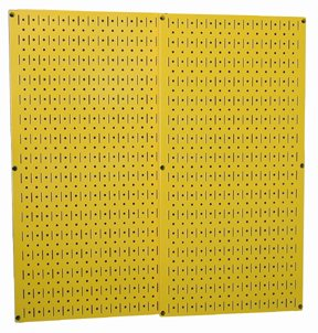 Yellow Metal Pegboard By Wall Control - 2 Pack