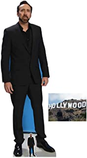 Nicolas Cage Lifesize and Mini Cardboard Cutout Fan Pack, 186cm x 66cm Includes 8x10 Star Photo