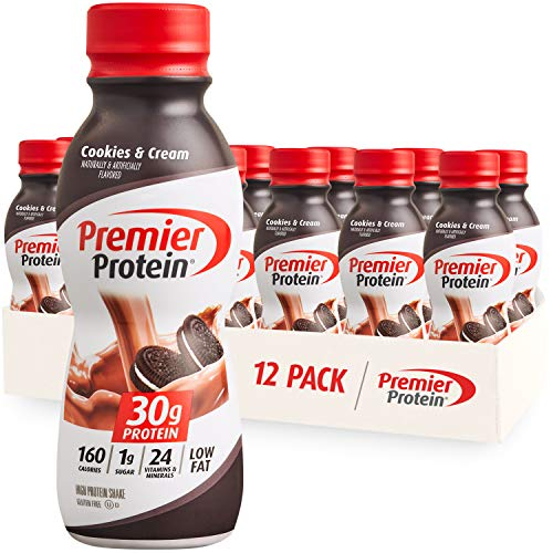Premier Protein Shake, Cookies & Cream, 30g Protein, 1g Sugar, 24 Vitamins & Minerals, Nutrients to Support Immune Health 11.5 fl oz, 12 Pack