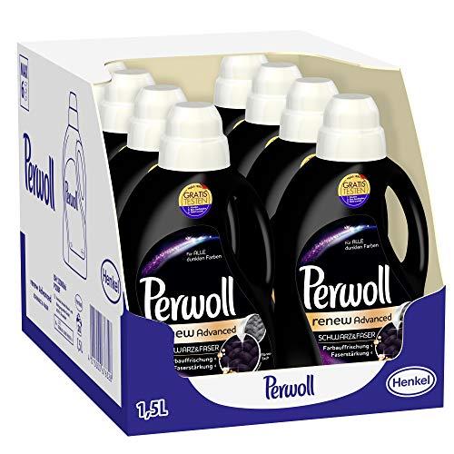 Perwoll renew Advanced Schwarz & Faser Feinwaschmittel, für dunkle Textilien (160 (8 x 20) Waschladungen)