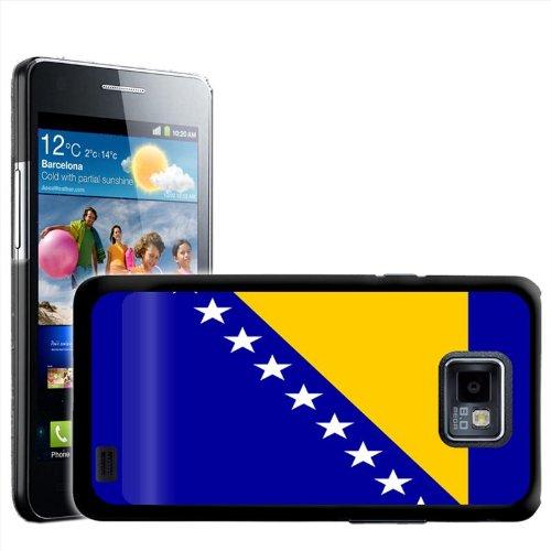 Fancy A Snuggle beschermhoes/harde schaal voor Samsung Galaxy S2 i9100, om op te steken, motief nationale vlag Bosnië en Bosnië