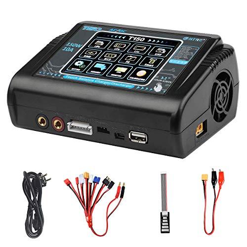 Haisito Cargador LiPo, descargador del Cargador de batería de la balanza AC / DC de la Pantalla táctil de 150W 10A para Li-Ion / Life / NiCd NiMH / LiHV / PB / Smart Battery