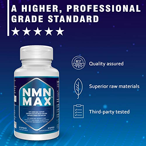 51XZj0SEN9L - 4 Pack NMN Capsules with Maximum Strength- 500mg- High Absorption Nicotinamide Mononucleotide Supplement- Supports Brain Function & Anti Aging