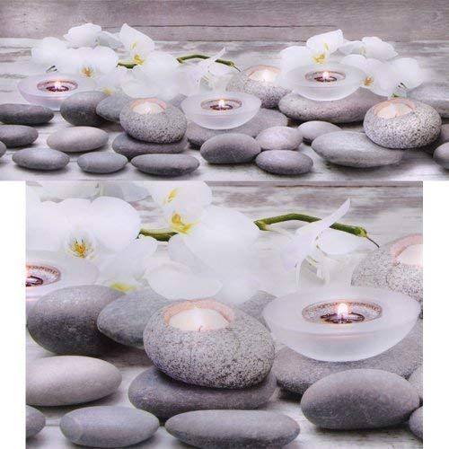 DRULINE 4 Modelle Beleuchtetes LED Leinwand Bild Wandbild Leuchtbild Leinwandbild NEU (Orchidee Weiß)