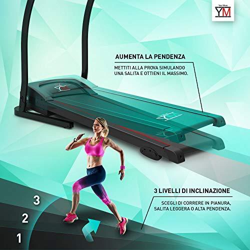 Cinta de correr, eléctrica, plegable con sensor cardíaco ...