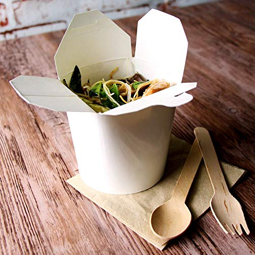 Contenitori per noodle in carta kraft, contenitori da asporto per cucina cinese da 500 ml, in...
