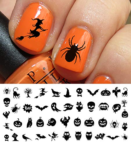 Halloween Nail Decals Assortment #3 - WaterSlide Nail Art Decals - Salon Quality!