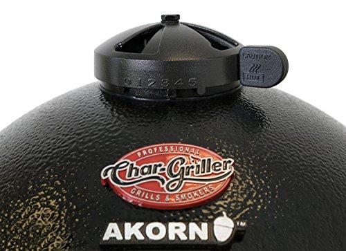 Char-Griller E6714 Akorn Jr Kamado Kooker Charcoal Grill, Black
