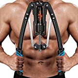 Ulalov Twister Arm Exerciser, Chest Workout Gym, Arm Muscle Training Machine, Adjustable Hydraulic Pressure 22-440lbs, Power Twister Bar Adjustable for Men and Women Home Fitness Equipment