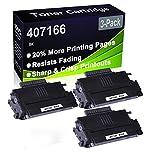 Paquete de 3 cartuchos de impresora compatibles de alto rendimiento 407166 para Ricoh Aficio SP100 SP100E SP100SU SP100SF SP112 SP112SU SP112SF