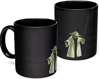 DENTRUN Heat Changing Star Wars Coffee Mug,Ceramic Coffee Mug,Heat Sensitive Porcelain Coffee Tea Milk CupColor ChangingMug,Innovative NoveltyGift 12 OZ