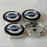 Para Volvo S40 S60L S80L XC60 XC90 60mm, 4 Piezas Coche Tapas centrales Aleación Tapacubos con Emblema De Insignia Embellecedor Central De Llanta De Rueda Cubre Accesorios