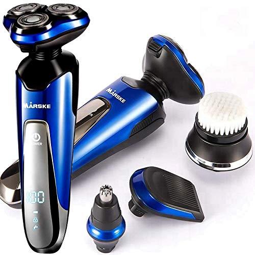 Elektrorasierer für Männer,Professioneller Elektrorasierer Rasierer 4D Schwimmender Rotationsrasierer, Bartsideburns Haartrimmer,Elektrorasierer Herren