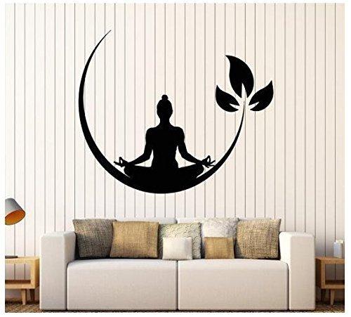 Romote Wall Art Stickers - Wandtattoo - Wandtapeten 57 * 69cm Yoga-Wand Stickerfor Home Decor Dekoration - Wohnzimmer Badezimmer Küche Büro Schlafzimmer