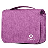 Travel Hanging Toiletry Wash Bag Makeup Cosmetic Organizer for Women Girls Kids Waterproof (Purple)