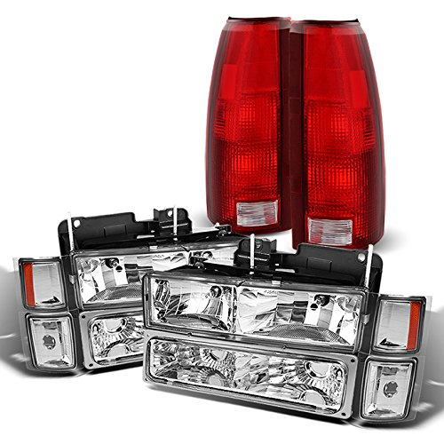 For Chevy C/K 1500/2500/3500 Tahoe Suburban Silverado Full Size C10 Headlights + Bumper Light + Tail Brake Lamp