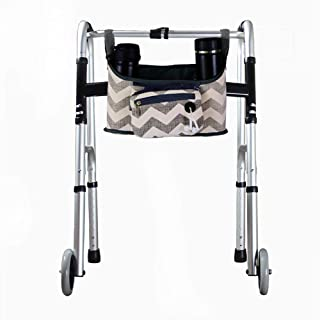 "Wheelchair Side Bag, Hands Free Walker Bag, Durable Walker Rollator Scooter Accessory Storage Tote Bag, Folding Walkers Organizer Pouch Caddy for Elderly,Seniors, Handicap and Disabled 12.6""Lx6.3""W"