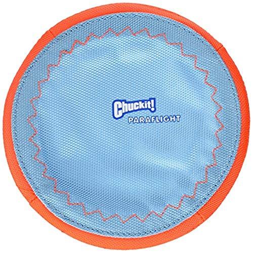 Chuckit Paraflight Jouet pour Chien, 1 Unité, Bleu/Orange, S