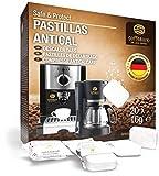 Pastillas antical Coffeeano 20uds. XL para cafeteras automáticas y cafeteras. Pastillas antical aptas para todas las marcas y electrodomésticos. Incluye un libro electrónico: