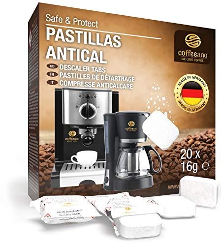 Pastillas antical Coffeeano 20uds. XL para cafeteras automáticas y cafeteras. Pastillas antical...