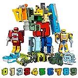 WSKL 10 Uds Robot de transformación número de Edificio Creativo deformar avión Coche Juguetes para niños Regalos Bloques Figura de acción educativa
