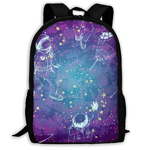 hengshiqi Mochila Backpack, Travel Backpack Laptop Backpack Large Diaper Bag - Universe Drawing Backpack School Backpack for Women & Men