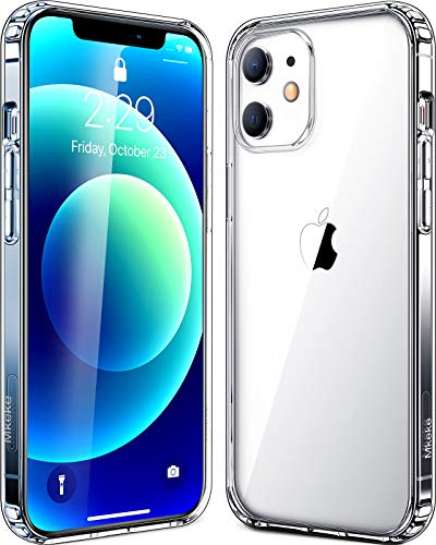 Mkeke Compatible with iPhone 12 Mini Case, Crystal Clear Case Compatible with iPhone 12 Mini 5.4 Inch