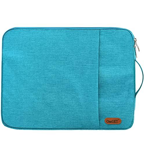 OneGET Funda para portátil compatible con MacBook Pro de 15 a 15,6 pulgadas, portátil, poliéster vertical brillante, bolsa de acuarela con bolsillo (15,6 – 16 pulgadas, verde ultramarino)