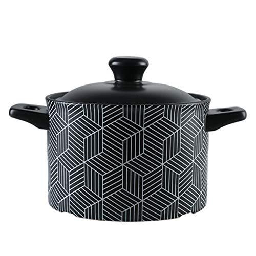 WOLJW 3.5L Moroccan Original-Tajine Keramik Taji Topf mit 2 Griffen Hitzebeständige Suppentopf Taj Mahal Geschirr mit Deckel geeignet für offene Flamme Gasherd