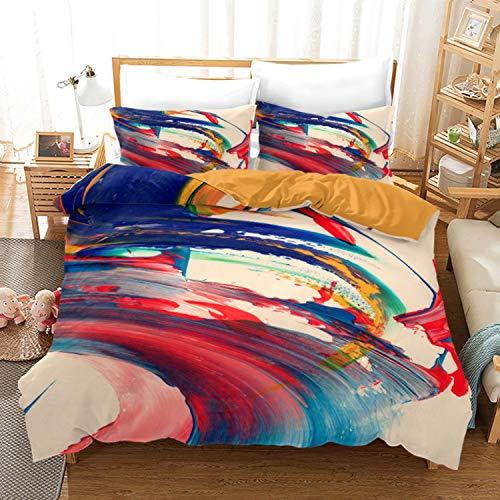 Ntioyg Full Size Bedding Comforter Sets 3 Pcs Marble Comforter Sets Oil Painting Design Artwork Watercolor Ultra Soft Quilt Set