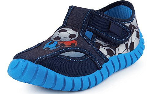 Ladeheid Pantofole a Strappo Bambino LAVI0003 (Blu Scuro, 29 EU)
