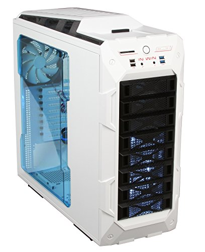 InWin GR One/White Sleek SECC ATX Full Tower Computer Case ATX 12V/EPS Power Supply Compatible