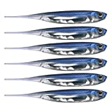 QualyQualy Señuelos de Vinilo para la Pesca de Peces Depredadores 6 Piezas - 8cm Señuelos con Cebo Blandos senuelos de Pesca (1#)