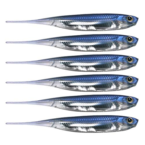 QualyQualy Soft Bait Shad Fishing Lures Plastic Worms Lure Dropshot Lures Shad Baits for Pike Perch Bass (1#)