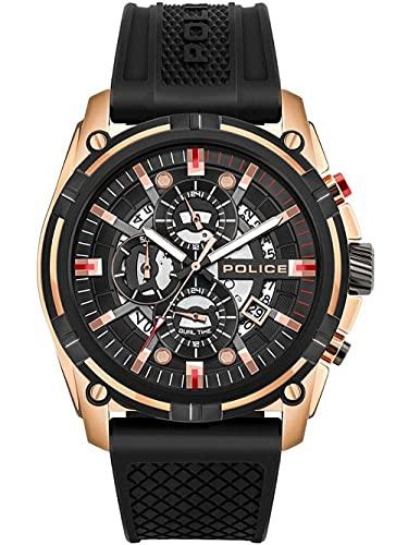Police Herren-Uhren Analog Quarz One Size Gold/Schwarz 32015075