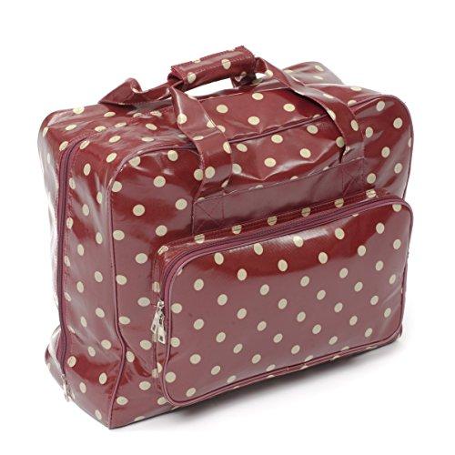 Hobby Gift Bolsa para máquina de Costura, Color Rojo con Lu