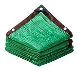 LLCY Lona de malla para jardín, para exteriores, de HDPE, verde, resistente a los tirantes, para patio, estanque, balcón, cochera, perrera (color: verde, tamaño: 6 x 7 m)