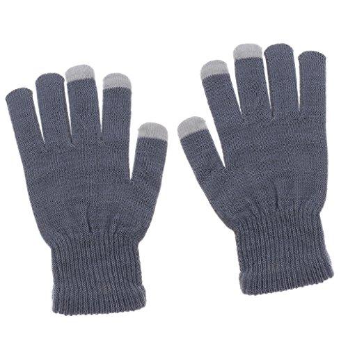 Gazechimp Frauen / Damen Strickhandschuhe, Anti-Rutsch Screen-Touch, Smartphone Handschuhe, auch geeignet für Im Freien Radfahren, Wandern, Klettern - Grau, Einheitsgröße