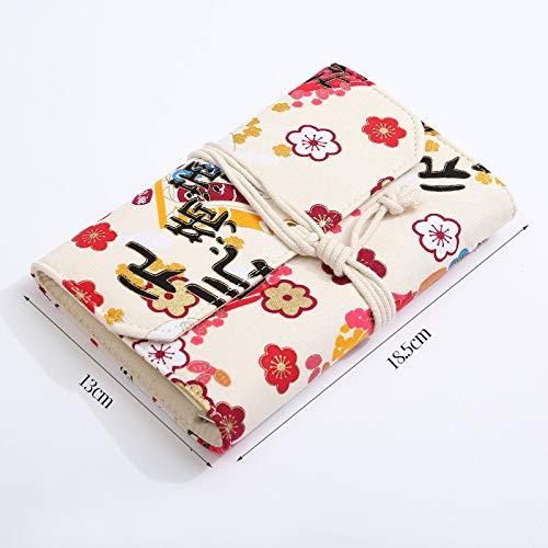 Cuaderno con cubierta de tela, cuaderno retro rellenable diario diario de viaje con núcleo reemplazable diario en blanco 13 * 18.5cm