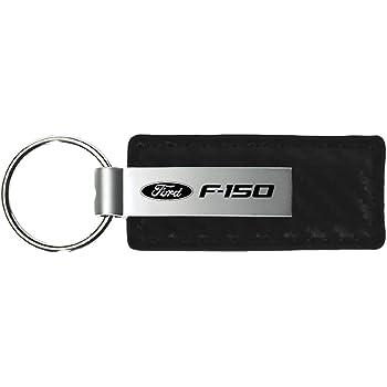 INC Ford F-150 White Carbon Fiber Texture Leather Key Chain Au-Tomotive Gold